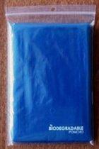 4 stuks biologisch afbreekbare ponchos   regenjas   wegwerp poncho   one size   BLAUW