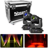 BeamZ Professional IGNITE180 Spot LED Moving Head 2 stuks in Flightcase