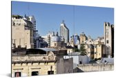 Skyline van Cordoba bij de Sierra Morena gebergte Aluminium 120x80 cm - Foto print op Aluminium (metaal wanddecoratie)