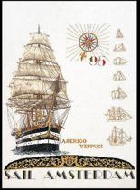 Thea Gouverneur Borduurpakket 2080A Sail Amsterdam 1995 - Aida stof 100% katoen