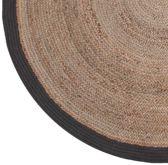 LABEL51 - Karpet Jute - Zwart - 180 cm