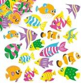 Foam stickers tropische vissen  (100 stuks per verpakking)