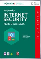 Kaspersky Internet Security - Multi-Device 2016 - Nederlands / Frans / 1 Apparaat / DVD