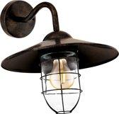 EGLO Vintage Melgoa - Buitenverlichting - Wandlamp - 1 Lichts - Koperkleurig