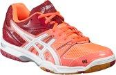 Asics Gel-Rocket 7 Indoorschoen Dames Sportschoenen - Maat 37.5 - Vrouwen - roze/oranje/rood/wit