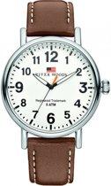 River Woods RW420011 Sacramento horloge Heren - Bruin - Leer 42 mm
