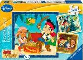 Ravensburger Piratenwereld puzzel 3 x 49 stukjes