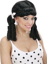 """""""Zwarte lolitapruik voor vrouwen - Verkleedpruik - One size"""""""