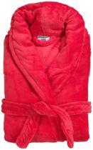 Héérlijk zachte badjas kronborg plus  gemaakt van 100% fleece rose  s/m