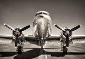 Glasschilderij vliegtuig