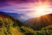 Papermoon Summer Mountains Vlies Fotobehang 200x149cm 4-Banen