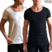 DICE 2-pack heren Invisible T-shirt lage ronde hals