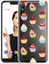 Wiko View 2 Go Hoesje Cupcakes