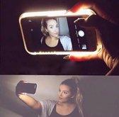 Selfie hoesje / Telefoonhoesje met LED-verlichting / Maak de perfecte selfies! - voor iPhone 6/6s – Zwart