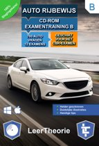 Auto Rijbewijs B - CD-ROM Auto Examentraining B - 780 oefenvragen - 12 Theorie Examens - Ontworpen voor het CBR theorie-examen 2017