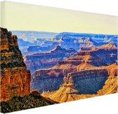 Uitzicht over Grand Canyon Canvas 60x40 cm - Foto print op Canvas schilderij (Wanddecoratie)