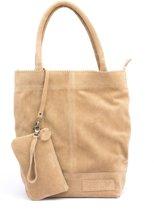 Zebra Trends Natural Bag Kartel - Real Leather - Suede Beige