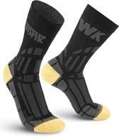 2-Pack Worik Extra Sterke Kevlar Anti Zweet Sokken K-Power KPWH - Zwart - Unisex - Maat 44-46