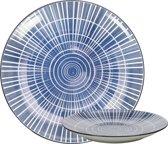 Gusta bord rond Sun - out of the blue ø16,5cm - set 4 stuks