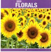 Maandkalender - Bloemen / Flowers - 2020 - 29x31cm - Omlegkalender