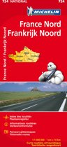 France nord / noord - Frankrijk 11724 carte ' national ' 2015 michelin kaart
