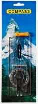 Fosco Kaart Kompas - Transparant - incl Keycord