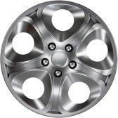 4-Delige J-Tec Wieldoppenset Enfinity 15-inch zilver