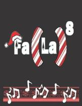 Fa La8: Christmas Carol: Notebook/Journal, Line Paper, 8.5'' x 11'', 200 Pages 3