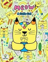 Meow A Cutie Cat: Notebook size 8.5x11 in. for cat lovers & the girls who like cats to handwriting and Have a cute cat on background.