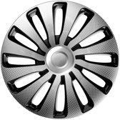 4-Delige J-Tec Wieldoppenset Sepang 14-inch zilver/zwart/carbon-look
