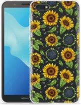 Huawei Y5 2018 Hoesje Sunflowers