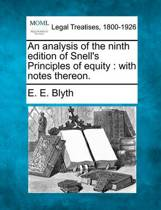 An Analysis of the Ninth Edition of Snell's Principles of Equity