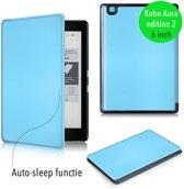 Smart magnetische flip hoes Kobo Aura editie 2 lichtblauw