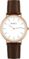 BLANCC Herenhorloge Classic 40mm Leer Bruin