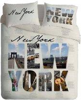 New York flanel dekbedovertrek Wit 1-persoons (140x200 cm + 1 sloop)