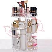 The BeautyBrand - Make Up Organizer - Transparant - 360° Draaibaar - 34CM x 22.5 CM