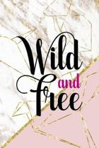 Wild And Free: Origami Notebook Journal Composition Blank Lined Diary Notepad 120 Pages Paperback Pink Marble