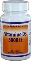 Vitortho vitamine D3 3000ie 60 st