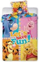 Winnie de Pooh Fun Dekbedovertrek - Eenpersoons - 140x200 cm - Multi