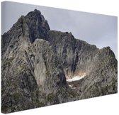 Bergtop Canvas 80x60 cm - Foto print op Canvas schilderij (Wanddecoratie woonkamer / slaapkamer)