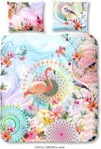 HIP 5589-H Virginia Flamingo - dekbedovertrek - lits-jumeaux - 240x200/220 cm  - 100% cotton/satin – multi