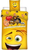 Emoji The movie - Dekbedovertrek - Eenpersoons - 140 x 200 cm - Geel