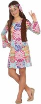 Hippie verkleedjurkje voor meisjes 116 (5-6 jaar) - 60's & 70's - Hippies & Flower Power - kleding