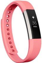 KELERINO. Siliconen bandje voor Fitbit Alta - Roze Paars - Large