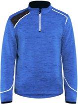 Blaklader Blåkläder 4943 Gebreid Sweatshirt 1/2 rits Korenblauw/Wit XS