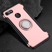 Mobigear Magnetic Ring Holder Hoesje Rose Goud Xiaomi Mi 8 Lite