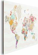 NEXT! BY REINDERS Wereldkaart - Schilderij - 90x60cm