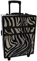Make-up Koffer M - Zebra Make-upkoffer / nagelkoffer TROLLEY! / Past een UV lamp in! Voor al je beauty producten!! #MUSTHAVE!