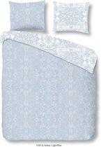 Dekbedovertrek Descanso Selma katoen-satijn nr.9308 l.blauw Maat: 135x200+1-80x80cm