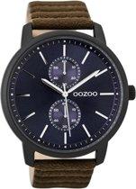 OOZOO Timepieces C9453 Zwart Donkerbruin Blauw 45mm